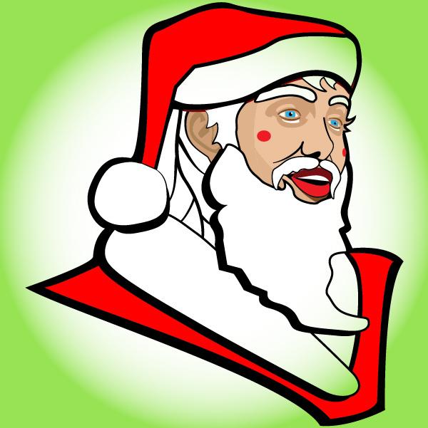 Free Funky Sketchy Santa Claus