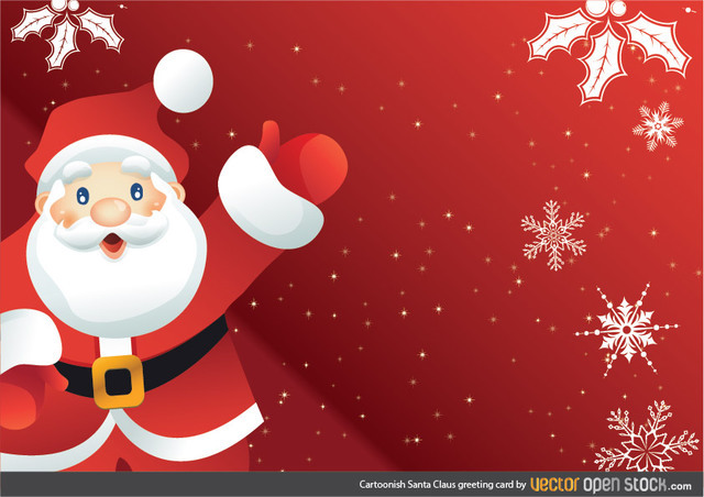 Free Cartoonish Santa Claus Greeting Card