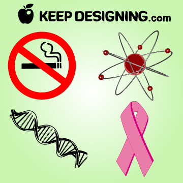 Free Vectors: Cancer Control Month with Cancer Signs | KeepDesigning