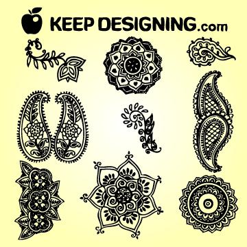Free Classic Indian Henna Design Set