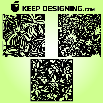 Free Hand Drawn Vintage Floral Patterns