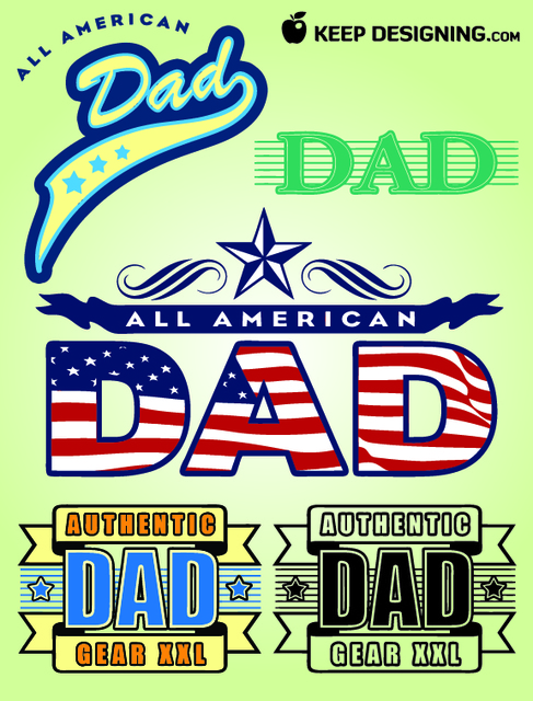 Free Fathers Day Design Elements