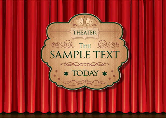 Free Theater Curtain Poster