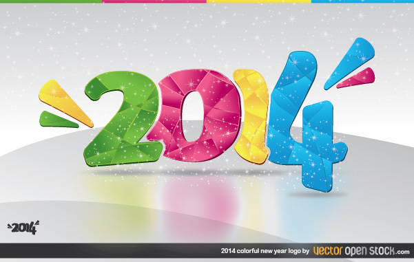 Free 2014 Colorful New Year Logo