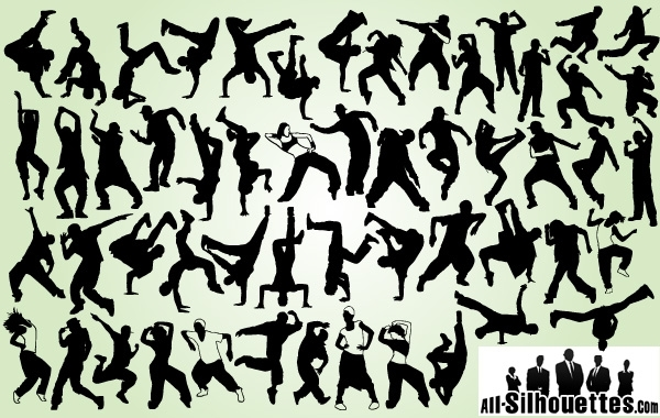 Free Hip Hop Dancer Pack Silhouette