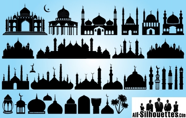 Free Silhouette Islamic Mosque Pack