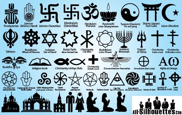 Free Religion Symbol Pack Silhouette