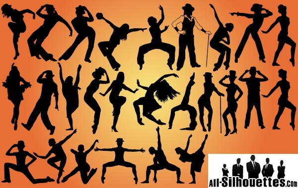 Free Jazz Dancers Pack Silhouette