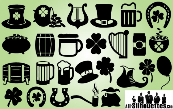 Free Feast of Saint Patrick Symbol Pack