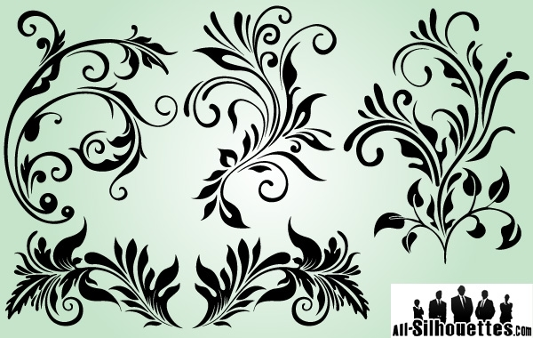 Free Decorative Ornaments with Outline Variation