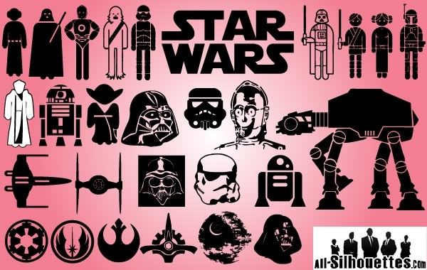 Free Vectors: Starwars Day Icon Pack | All-Silhouettes