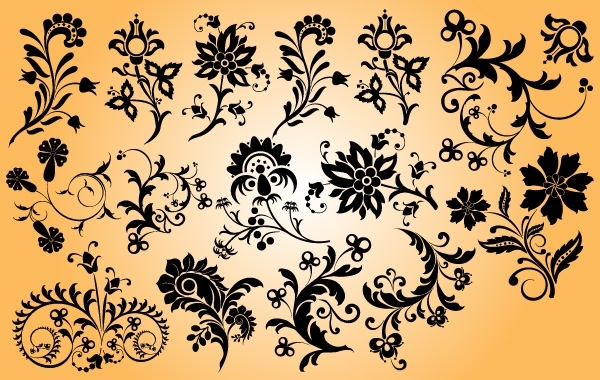 Free Mix Pack of Floral Ornament