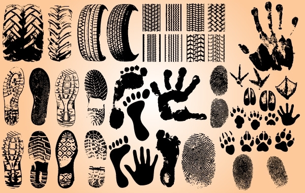 Free Foot and Car Wheel Step Print Set