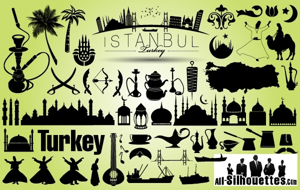 Free Vectors: Turkey Istanbul Icon Pack Silhouette | All-Silhouettes