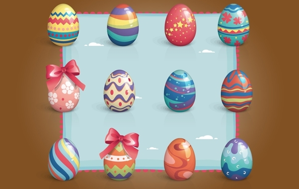 Free Colorful Easter Egg Pack