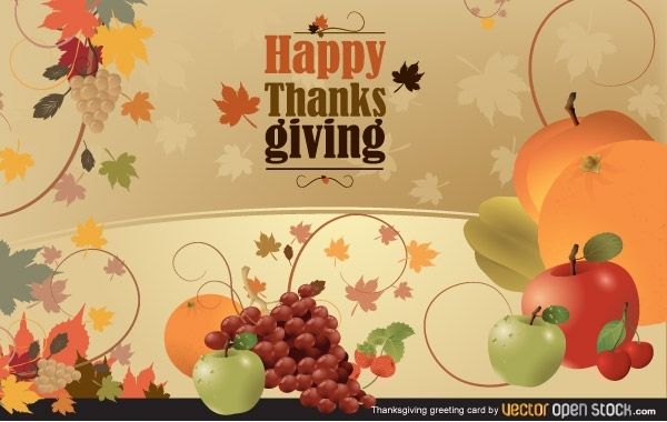 Free Vectors: Thanksgiving Greeting Card | Vector Open Stock