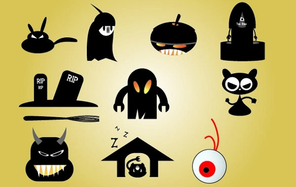 Free Halloween Funky Icon Set
