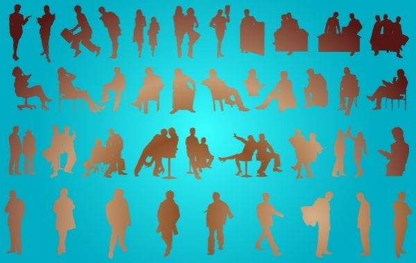 Free Corporate People Pack Silhouette