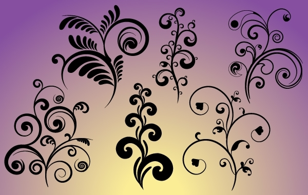 Free Set of Flourish Curves & Curls