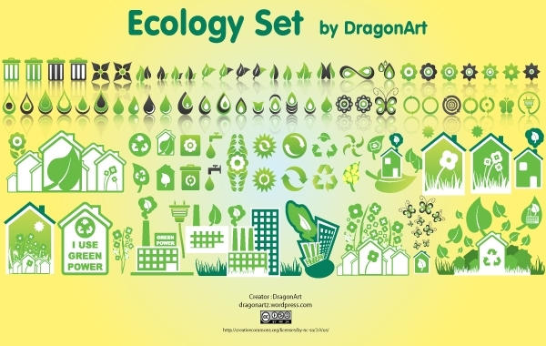 Free Green Creative Ecology Icon Set