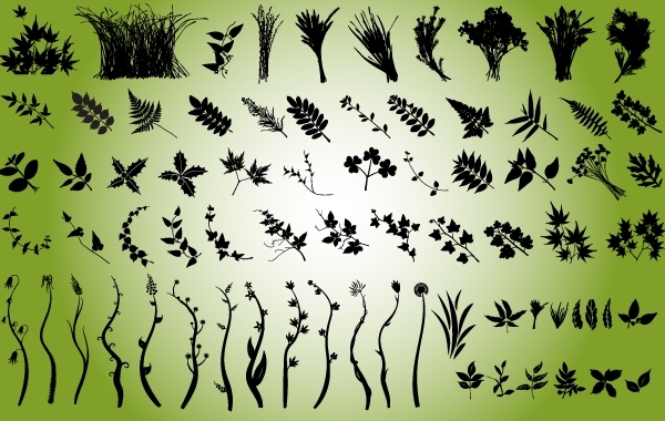 Free Natural Leaves and Bushes Pack