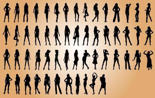 Free Vectors: Sexy Fashion Model Silhouette Pack | vectorlady
