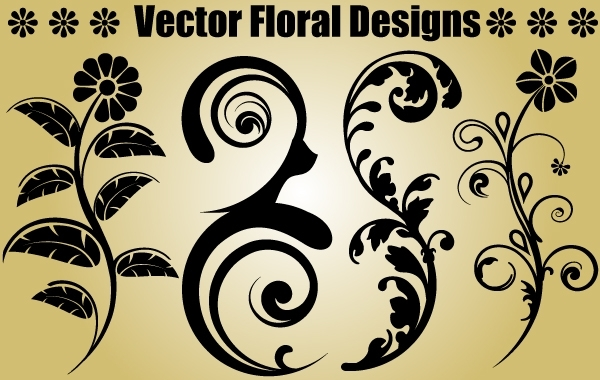 Free Four Floral Objects