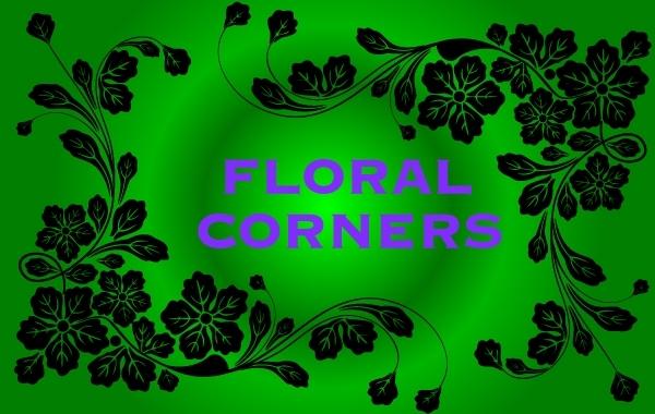 Free Flourish Corner Frame