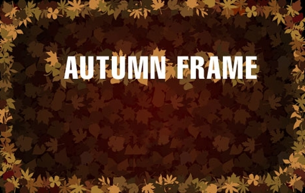 Free Frame with Autumn Leaves