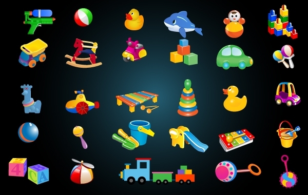 Free Cute Baby Toys Icon Pack