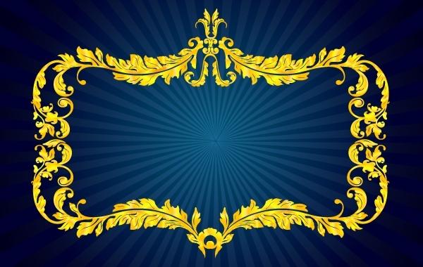 Free Golden Floral Royal Frame