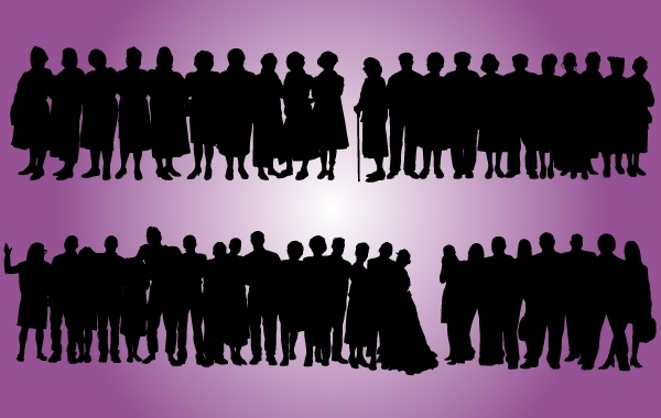 Free Grownup Aged People Set Silhouette