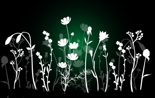 Free White & Gray Flourish Background