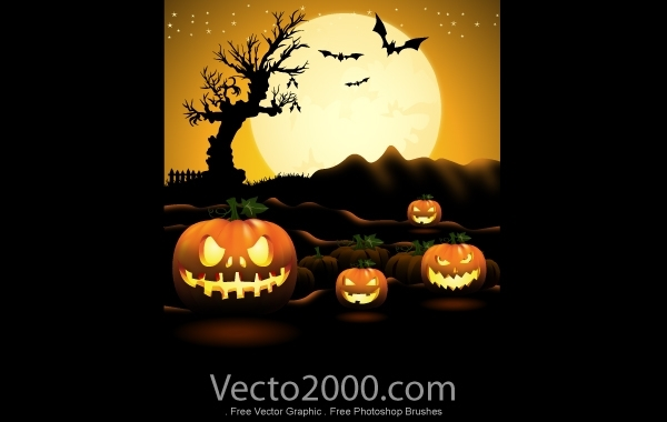 Free Pumpkin Halloween Night Poster