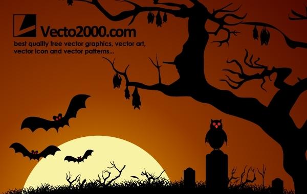 Free Dark Haunted Halloween Night