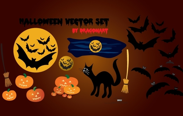 Free Vectors: Funky Halloween Object pack | Dragonartz
