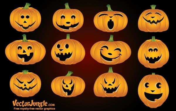 Free Funny Pumpkin Face Pack