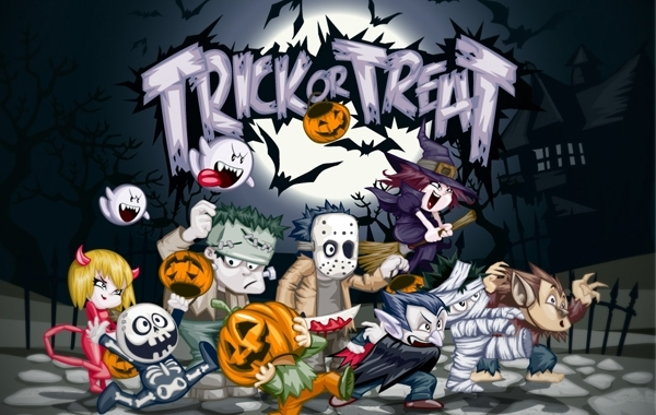 Free Trick or Treat Halloween Art