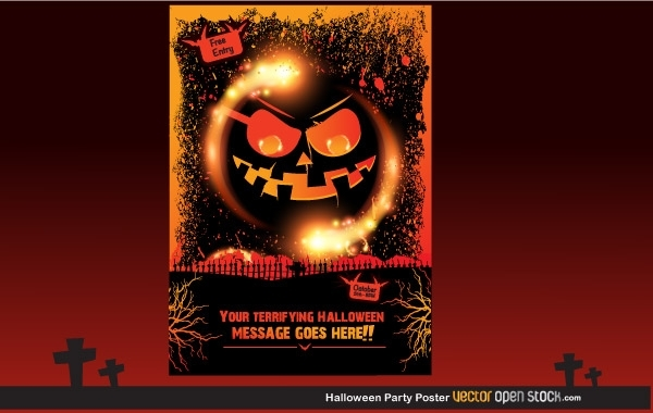 Free Halloween Party Poster