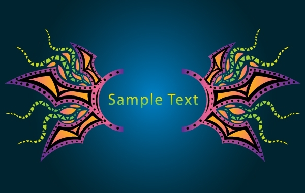 Free Psychedelic Banner Layout Template
