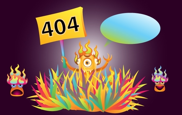 Free Vectors: Monster 404 Error Illustration | AndreiVerner