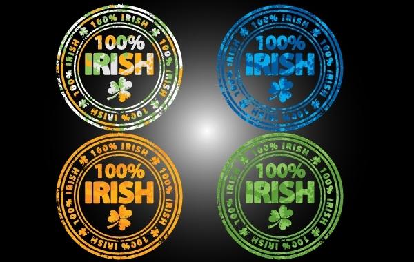 Free Grungy 100 Percent Irish Stamp