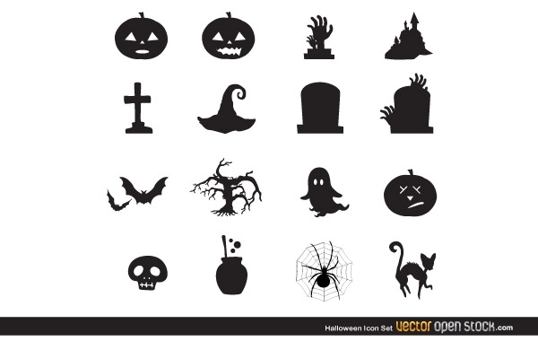 Free Vectors: Halloween icon set | Vector Open Stock