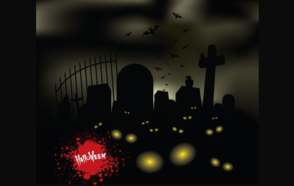 Free Horror Halloween Theme Graveyard