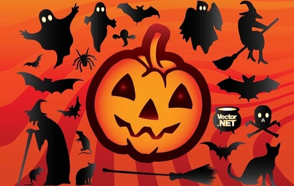 Free Funky Halloween Object Set