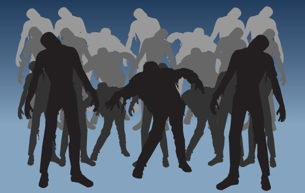Free Horror Zombie Pack Silhouette