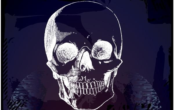 Free Horror Artistic Grungy Skull