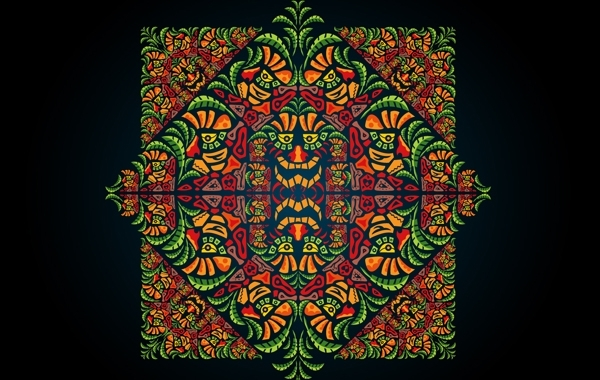 Free Vectors: Psychedelic Aztec Style Ornament | AndreiVerner