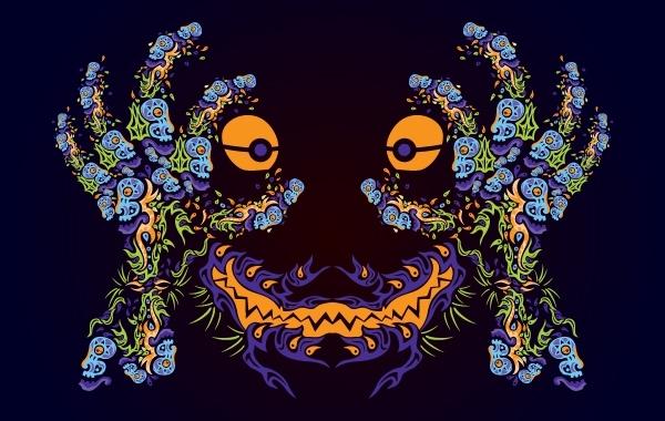 Free Vectors: Psychedelic Ornamental Mask | AndreiVerner