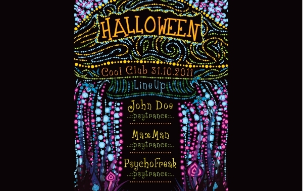 Free Psychedelic Halloween Party Flyer